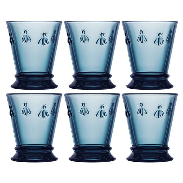 La Rochere Bee Blue Tumbler 260ml Set Of 6