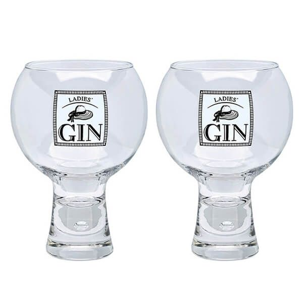 Durobor Raising Spirits Set Of 2 Ladies' Gin Glasses
