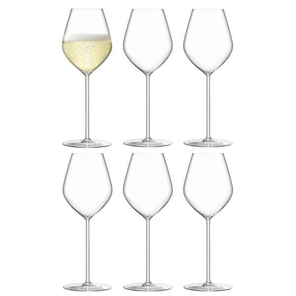 LSA Borough Champagne Tulip Glass 285ml 6 For 4