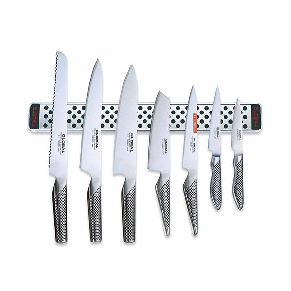 Global 30th Anniversary G-2395113638/M40 8 Piece Knife Set With Magnetic Rack