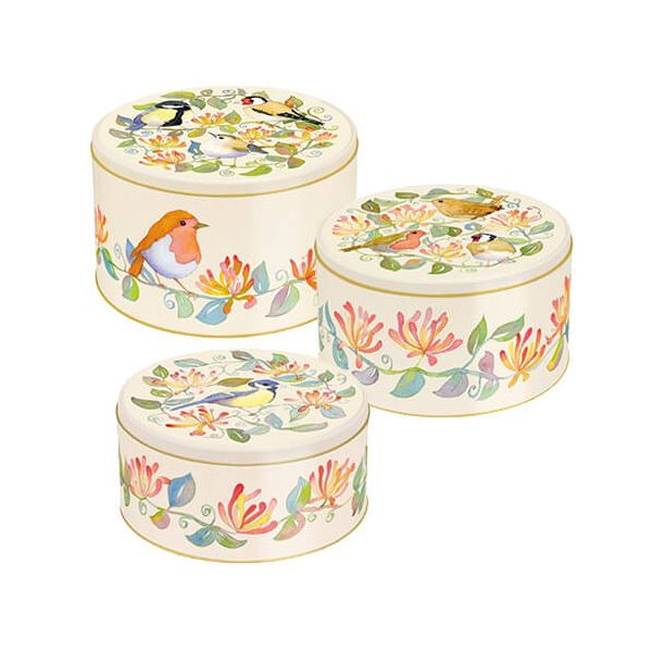 Emma Ball Garden Birds Cake Tins, Set of 3