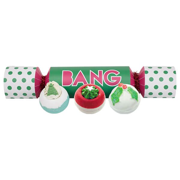 Bomb Cosmetics Bang Cracker Set Of 3 Bath Bombs Gift Pack