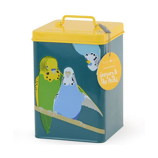Burgon & Ball Creaturewares Gregory & The Pecks Budgie Tin