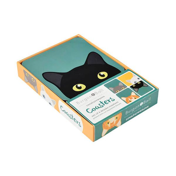 Burgon & Ball Creaturewares Doris Cat Coasters