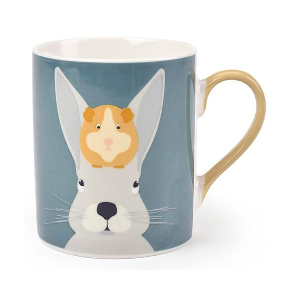 Burgon & Ball Creaturewares Arthur & Squeak Rabbit & Guinea Pig Fine China Mug