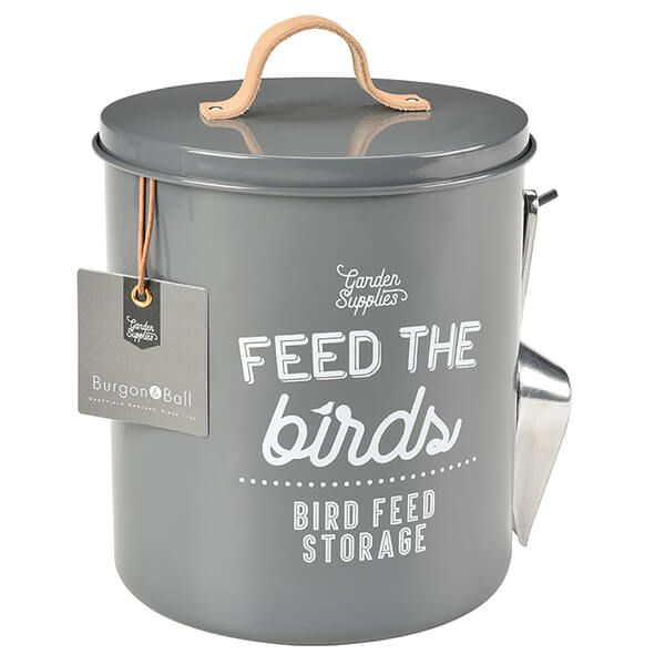 Burgon & Ball 'Feed the Birds' Bird Food Tin - Charcoal
