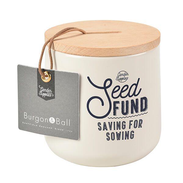Burgon & Ball Seed Fund Money Box - Stone