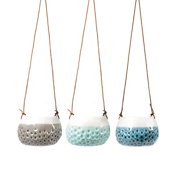 Burgon & Ball Baby Dotty Trio Hanging Baskets Set