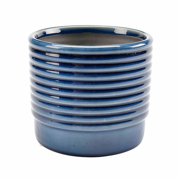 Burgon & Ball Oslo Blue Small Glazed Pot