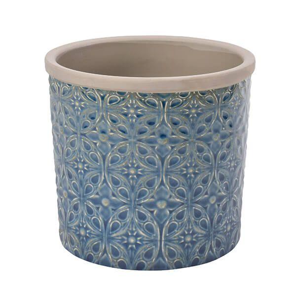 Burgon & Ball Glazed Pot Porto Large Dark Blue