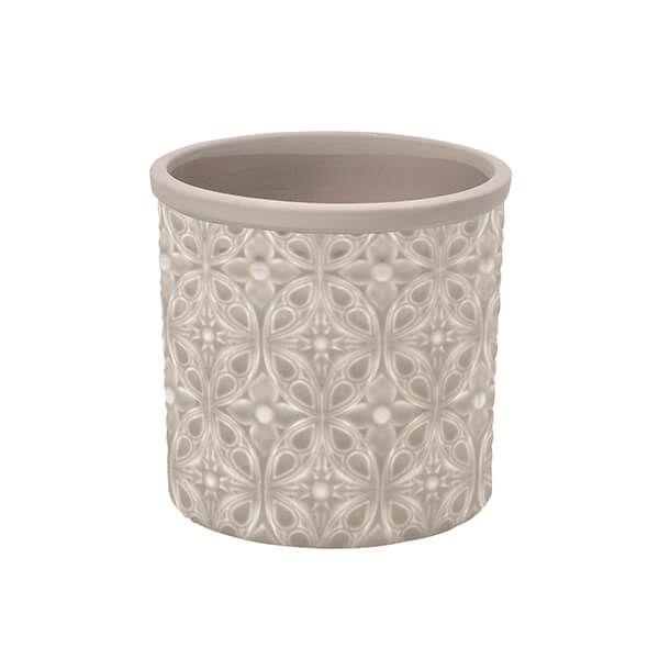 Burgon & Ball Glazed Pot Porto Small Grey