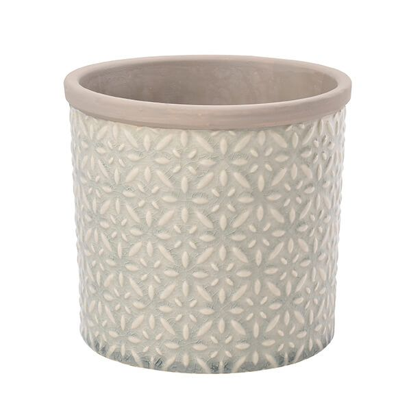 Burgon & Ball Glazed Pot Tuscany Large Grey