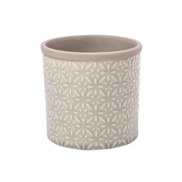 Burgon & Ball Glazed Pot Tuscany Small Grey