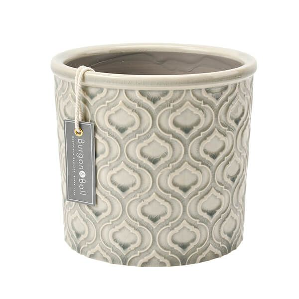 Burgon & Ball Glazed Pot Venetian Large Grey