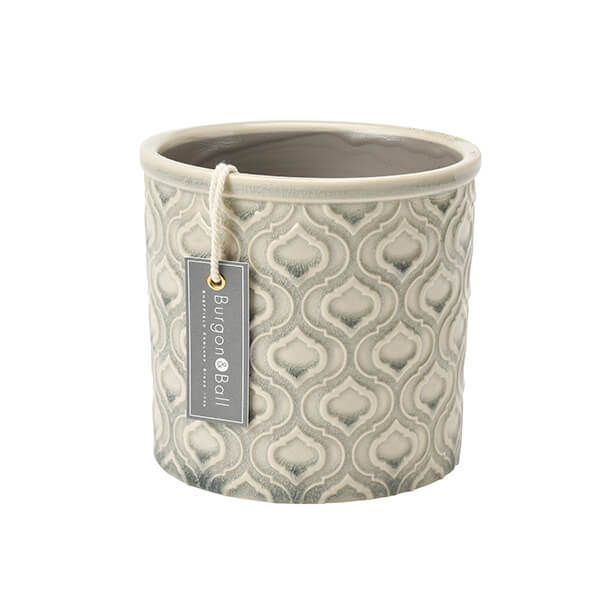 Burgon & Ball Glazed Pot Venetian Small Grey