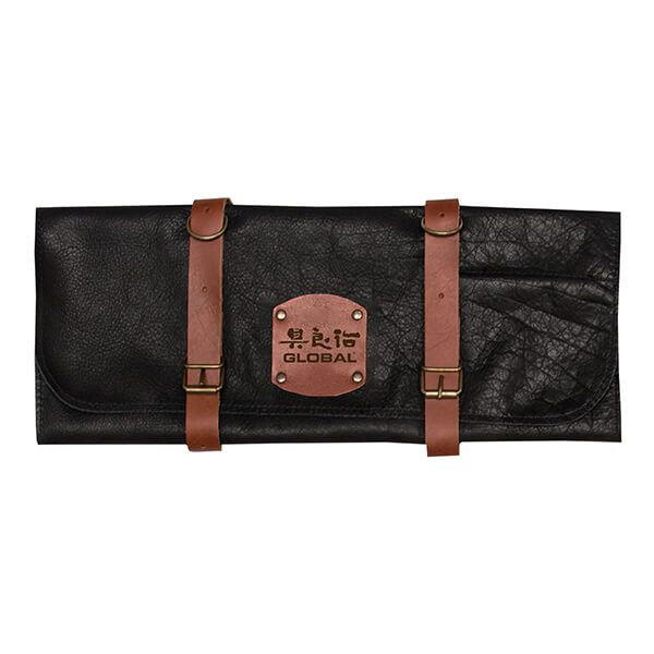 Global GL-45475 Deluxe Leather Case for 5 Knives