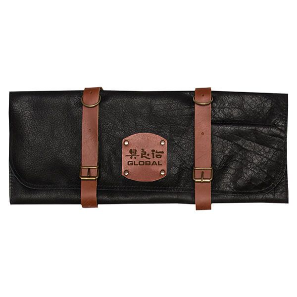 Global GL-458710 Deluxe Leather Case for 10 Knives