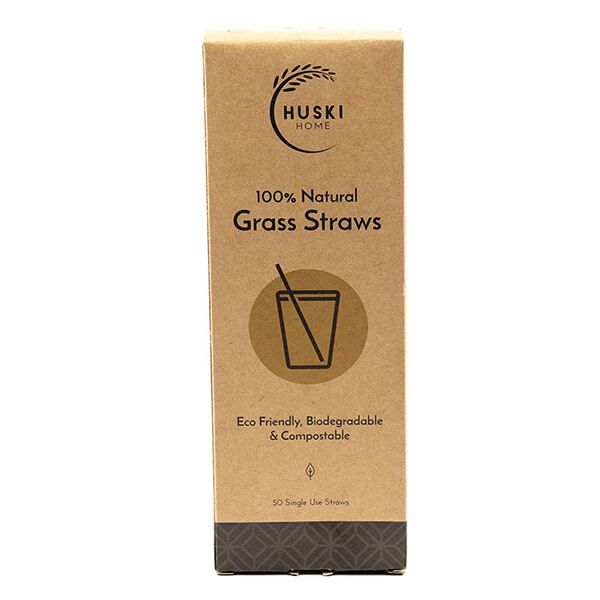 Huski Home Pack Of 50 Sustainable Grass Straws