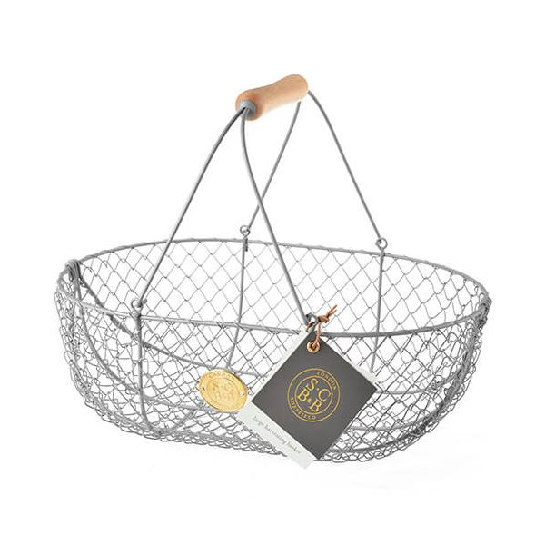 Burgon & Ball Sophie Conran Large Harvest Basket Grey