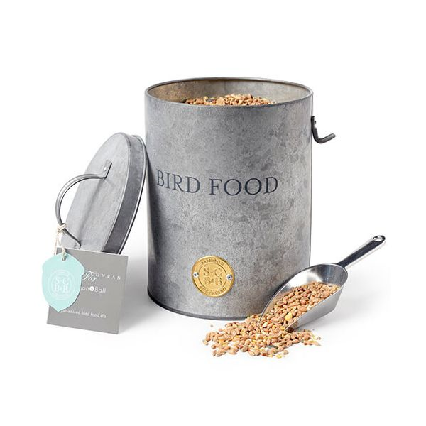 Burgon & Ball Sophie Conran Galvanized Bird Food Tin