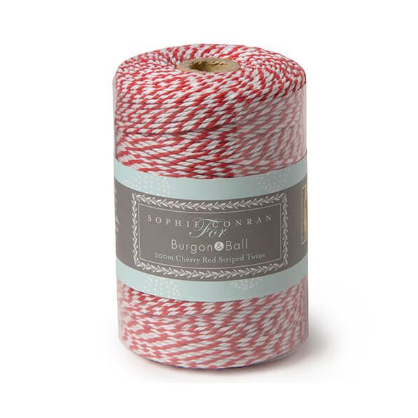 Burgon & Ball Sophie Conran Striped Twine Red