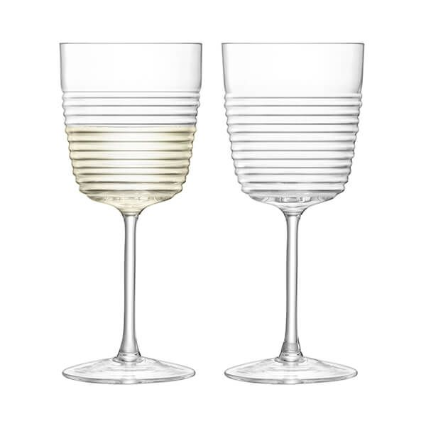 LSA Groove Wine Glass 270ml Clear Set of Two