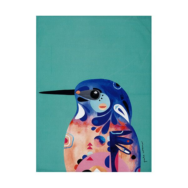 Maxwell & Williams Pete Cromer Tea Towel Kingfisher