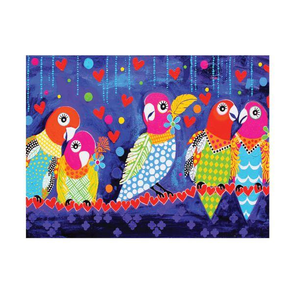 Maxwell & Williams Love Hearts Tea Towel Love Birds