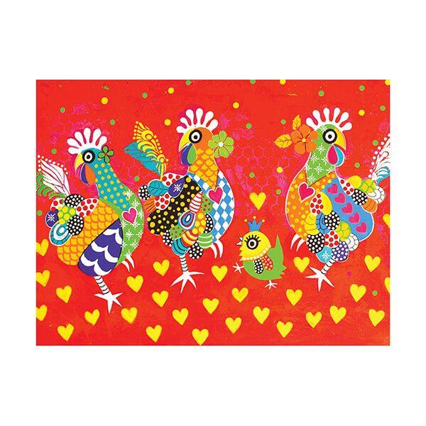 Maxwell & Williams Love Hearts Tea Towel Chicken Dance