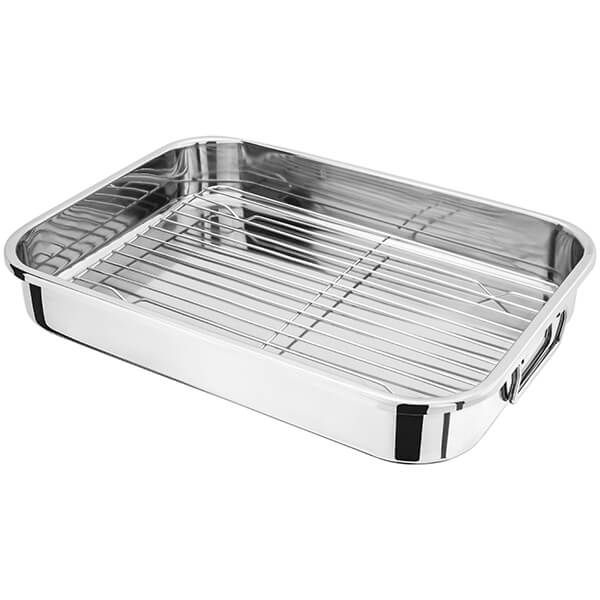 Judge 42 x 30 x 6.5cm Roasting Pan with Rack