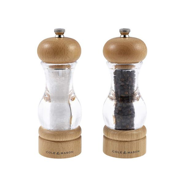 Cole & Mason Acrylic & Beech Precision Mill Gift Set