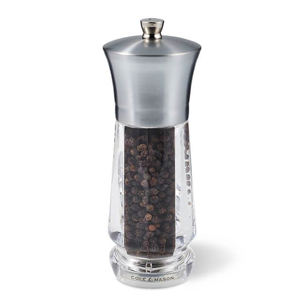 Cole & Mason Precision+ Exford Clear Nickel Pepper Mill