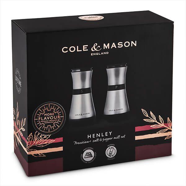 Cole & Mason Precision+ Henley 135mm Stainless Steel Salt & Pepper Mill Gift Set