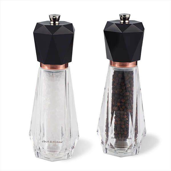 Cole & Mason Precision+ Somerton Clear Antique Brass Salt & Pepper Mill Gift Set