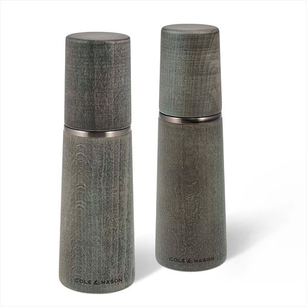 Cole & Mason Precision+ Marlow Beech Grey 185mm Salt & Pepper Mill Gift Set