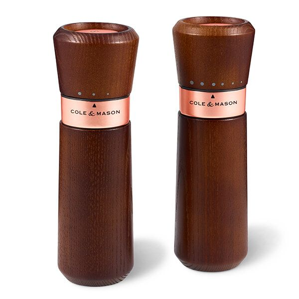 Cole & Mason Lyndhurst Chestnut Rose Gold Ash Inverta Precision MIll Gift Set