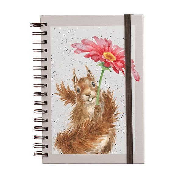 Wrendale Designs Flowers Come After Rain Notebook A5 Spiral Bound Notebook