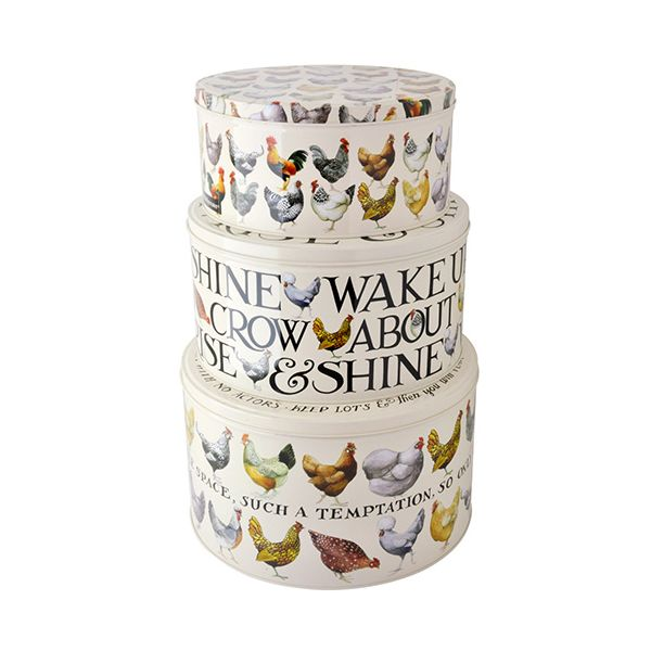 Emma Bridgewater Hens Set of 3 Round Cake Tins
