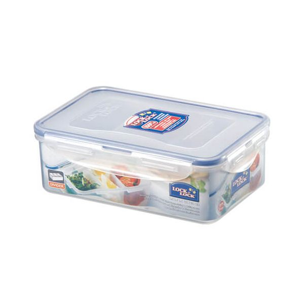 Lock & Lock 1 Litre Rectangular Storage Container With 3 Compartments