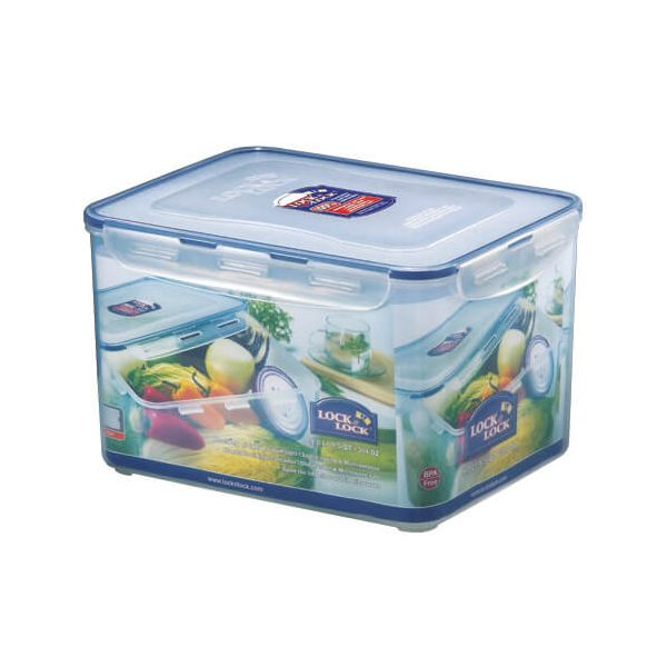 Lock & Lock 9 Litre Rectangular Storage Container With Freshness Tray