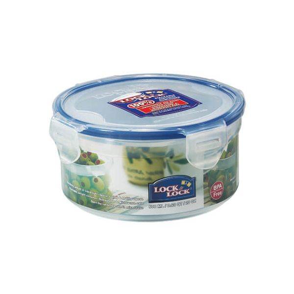 Lock & Lock 600ml Round Storage Container