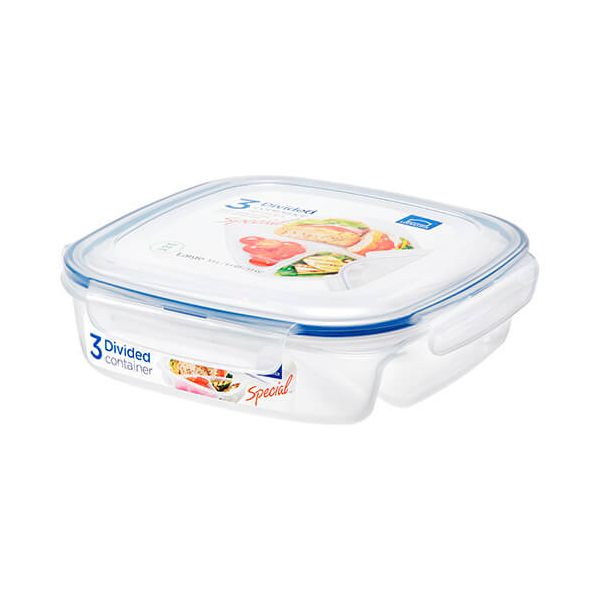 Lock & Lock 1.5 Litre Square Divided Storage Container