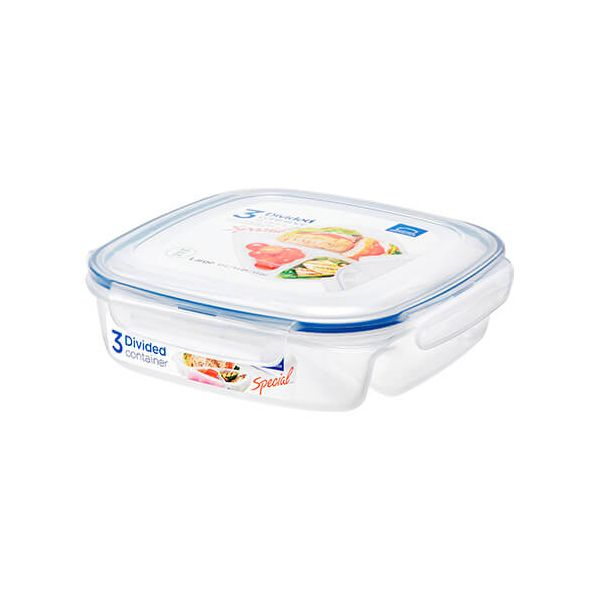 Lock & Lock 750ml Square Divided Storage Container