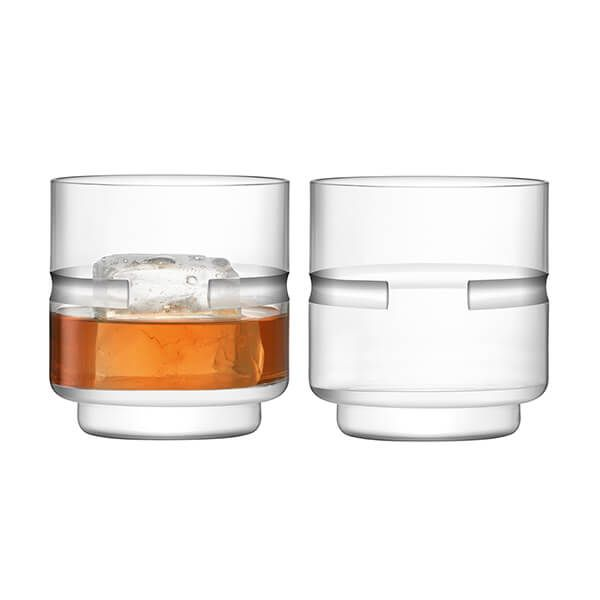 LSA Horizon Tumbler 350ml Clear & Cut Set Of Two