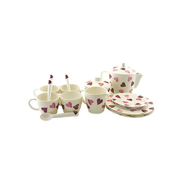 Emma Bridgewater Hearts 19 Piece Melamine Childs Tea Set