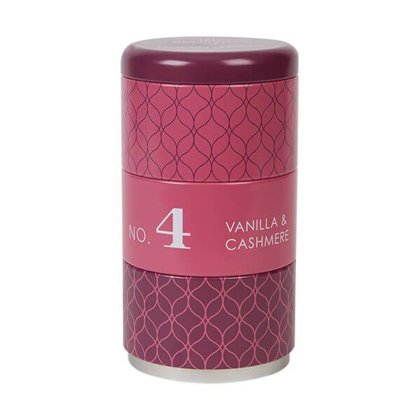 Wax Lyrical Homescenter Vanilla & Cashmere Set of 3 Stacking Candle Tins