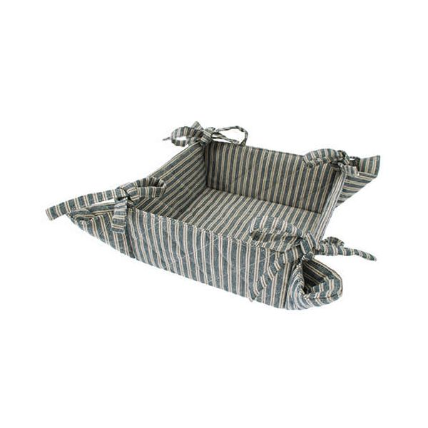 Walton & Co Hampton Stripe Bread Basket