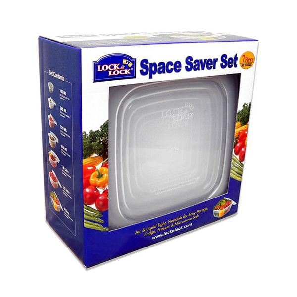 Lock & Lock 7 Piece Space Saver Set