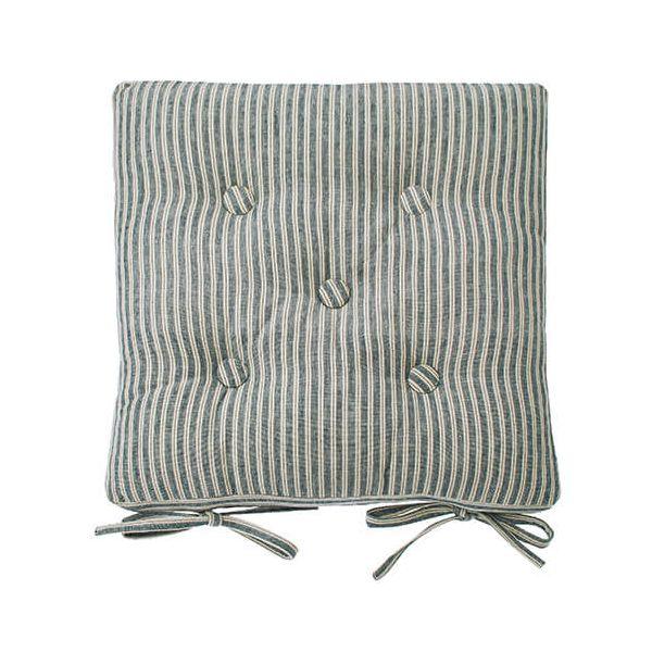 Walton & Co Hampton Stripe Seat Pad With Ties