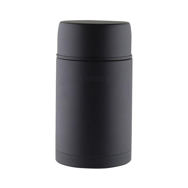 Pioneer Vacuum 1.0 Litre Stainless Steel Black Soup Flask
